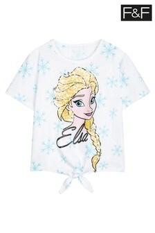 F&F White Disney™ Frozen Elsa T-Shirt