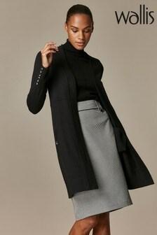 Wallis Black Wool Blend Cardigan