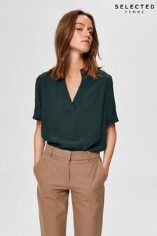 Selected Femme Green Fella Blouse