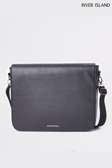 River Island Black Flapover Bag