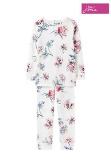 Joules White Sleepwell Organic Pyjama Set