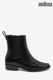 Melissa Black Riding Low Welly Boot