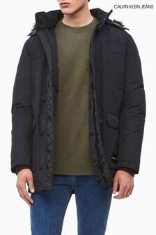 Calvin Klein Jeans Black Hooded Parka