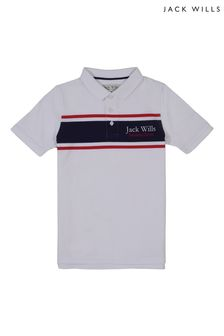 Jack Wills Boys White Poloshirt