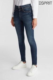 Esprit Womens Blue denim Skinny Pants
