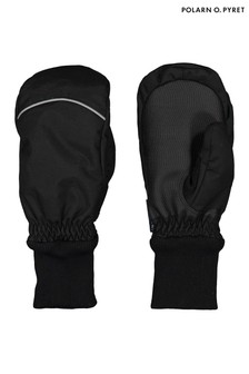 Polarn O. Pyret Black Waterproof Padded Winter Mittens