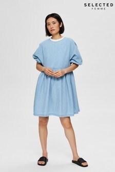 Selected Femme Chambray Blue Novo Dress