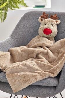 Reindeer Plush Blanket