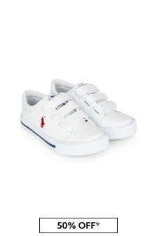 Ralph Lauren Kids Boys White Elmwood Trainers