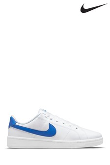Nike White/Blue Court Royale 2 Trainers