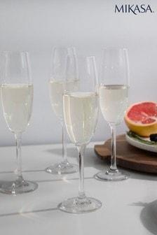 Set of 4 Mikasa Julie Champagne Flutes