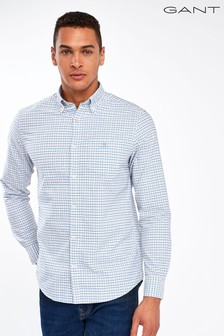 GANT Blue Oxford Check Regular Shirt