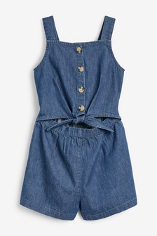 Tie Front Short Leg Playsuit (3-16yrs)