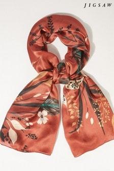 Jigsaw Sylvan Floral Silk Scarf