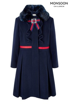 Monsoon Children Blue Robyn Coat