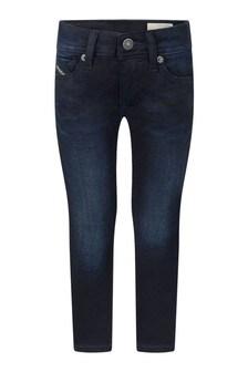 Boys Black Cotton Denim Sleenker Jeans