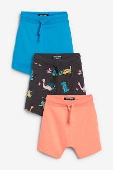 3 Pack Dinosaur Shorts (3mths-7yrs)