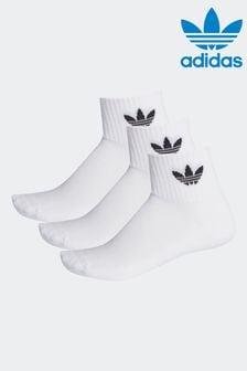 adidas Originals Adults Trefoil Ankle Socks 3 Pack