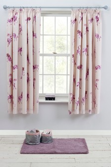 Magical Unicorn Blackout Pencil Pleat Curtains