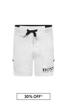 Boss Kidswear Baby Boys Grey Cotton Shorts