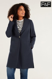 F&F Navy Unlined Formal Coat