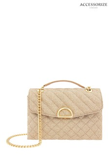 Accessorize Metallic Mini Quilted Ayda Bag