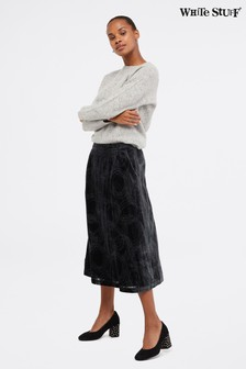 White Stuff Grey Gallery Devore Skirt