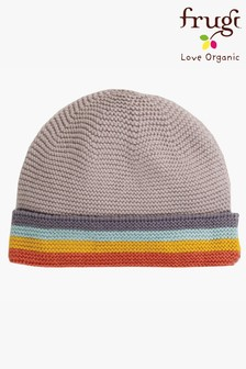 Frugi Organic Cotton Knitted Soft Rainbow Stripe Hat