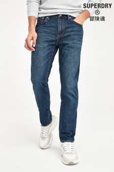 Superdry Dark Blue Conor Taper Jeans