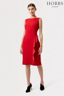 Hobbs Red Elida Dress