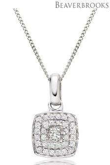 Beaverbrooks Vintage 9ct White Gold Diamond Pendant