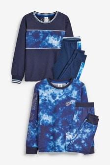 2 Pack Tie Dye Print Pyjamas (3-16yrs)