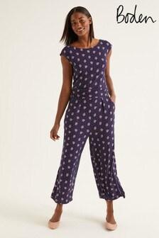 Boden Blue Luna Jersey Jumpsuit