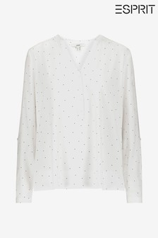 Esprit Natural Woven Long Sleeved Viscose Blouse