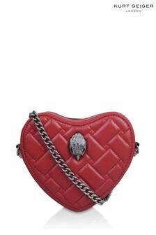Kurt Geiger London Red Kensington Heart Cross Body Bag
