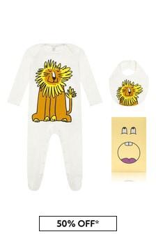 Stella McCartney Kids Baby Cream Cotton Babygrow Gift Set
