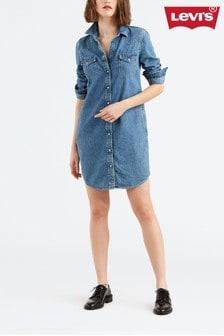 Levi's® Light Wash Denim Western Mini Dress