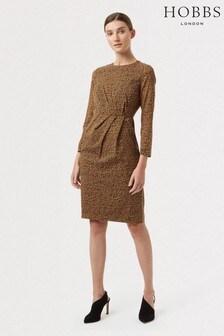 Hobbs Brown Silk Trina Dress