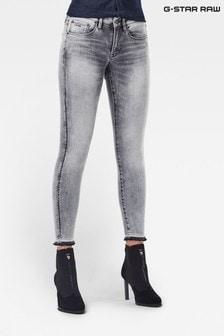 G-Star 3301 Mid Skinny Ankle Elto Black Super Stretch Jeans