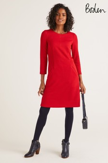 Boden Red Agnes Jacquard Dress