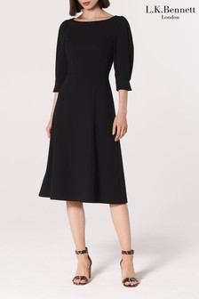 L.K.Bennett Black Lemoni Crepe Dress