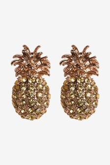 Sparkle Pineapple Stud Earrings