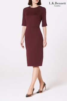 L.K. Bennett Red Liya Jersey Dress
