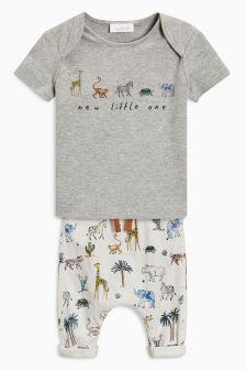 Animal Print T-Shirt And Jogger Set (0mths-2yrs)