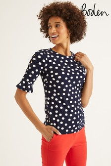 Boden Blue Bella Ponte Top