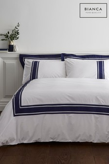 Berkeley Tailored Cotton Duvet Cover and Pillowcase Set by Bianca