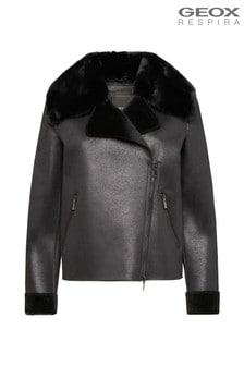 Geox Women's Nhenbus Black Short Jacket