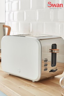 Nordic White 2 Slot Toaster by Swan