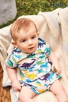Hatley Grey Friendly Dinos Baby Romper