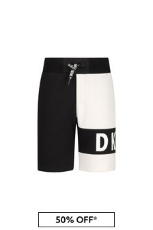 DKNY Boys Black Cotton Shorts